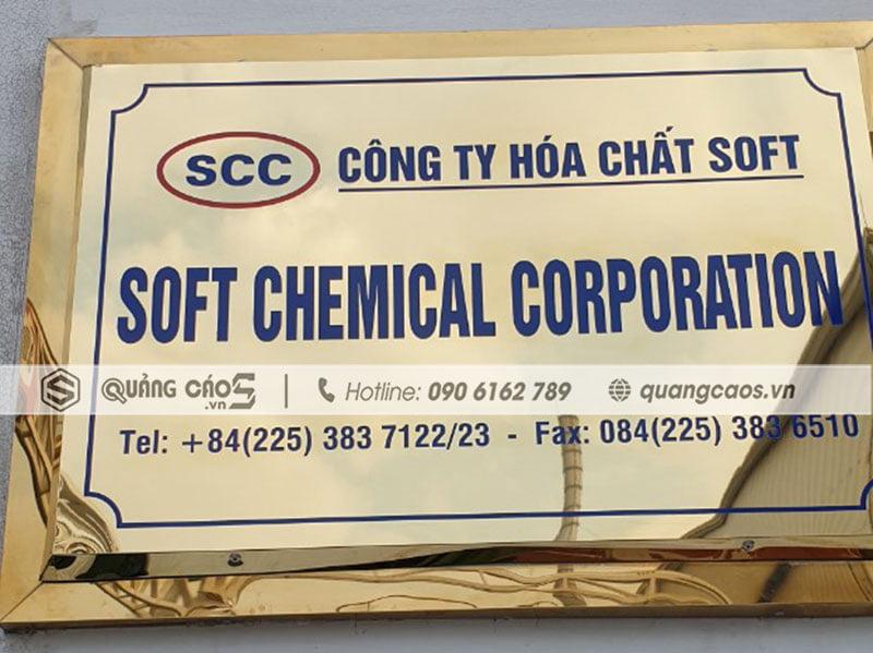 Biển tên công ty bằng Inox đẹp tại Hải Phòng