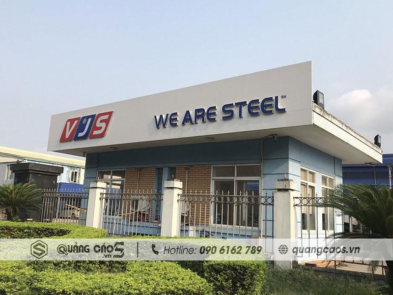 Làm biển hiệu Công ty VJS tại KC Nam Cầu Kiền Hải Phòng