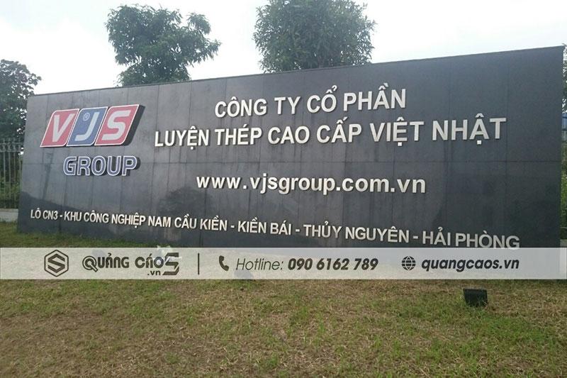 Biển quảng cáo công ty Thép Việt Nhật VJS - KCN Nam Cầu Kiền, Hải Phòng