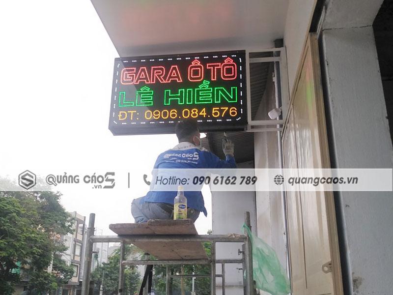 Làm biển quảng cáo Gara ô tô Lê Hiền