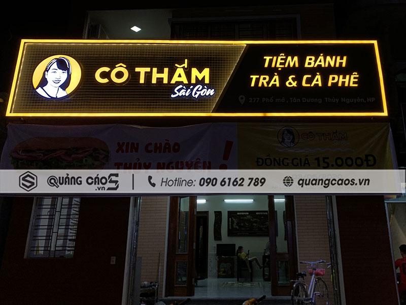 Làm biển quảng cáo Cô Thắm Sài Gòn Thủy Nguyên Hải Phòng