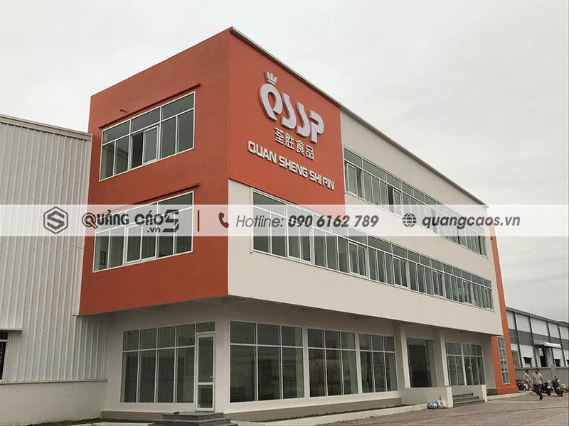 Làm bảng hiệu công ty QSSP - KCN Tràng Duệ, Hải Phòng