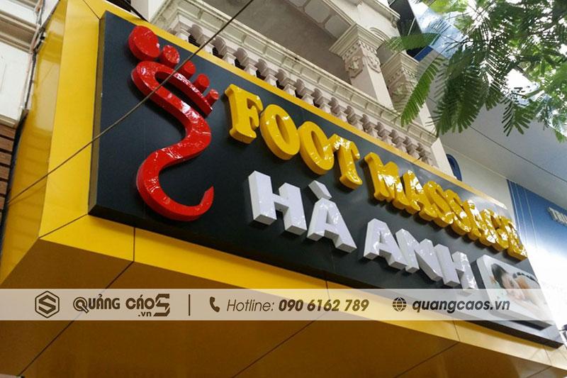 Thi công biển quảng cáo Foot Massage Hà Anh - Văn Cao