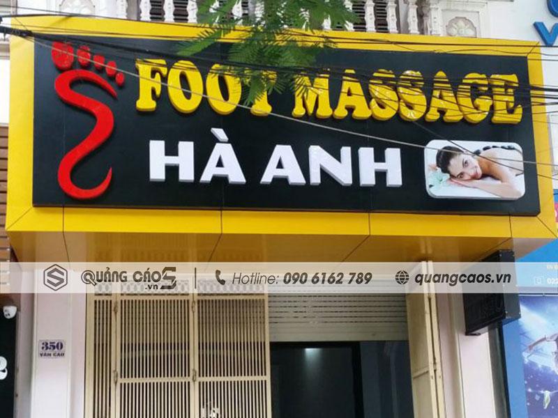 Thiết kế & Thi công biển quảng cáo Foot Massage Hà Anh