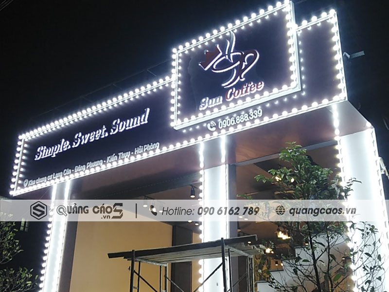 Biển quảng cáo Sun Coffee - Kiến Thuỵ, Hải Phòng