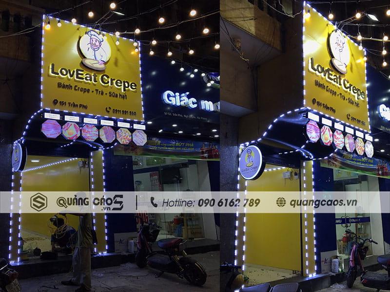 Biển quảng cáo Loveat Crepe