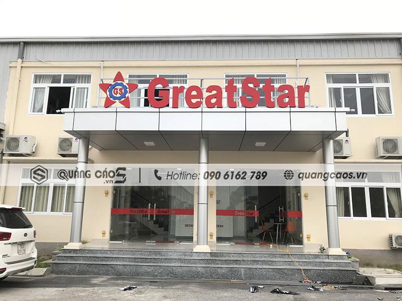 Làm biển hiệu Công ty GreatStar tại Dương Kinh Hải Phòng