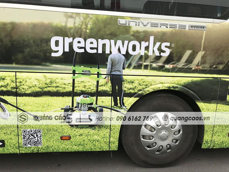 Dán decal xe ô tô công ty Green Work