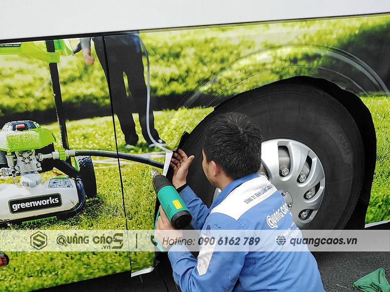 Dán decal xe ô tô cho công ty GreenWork tại KCN Tràng Duệ Hải Phòng