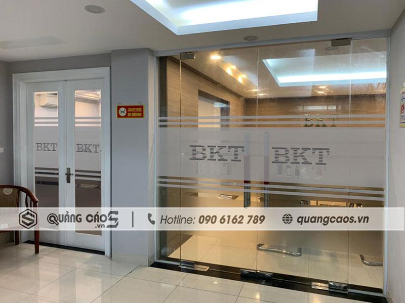 Decal dán kinh văn phòng công ty BKT tại KCN Nam Cầu Kiền Hải Phòng