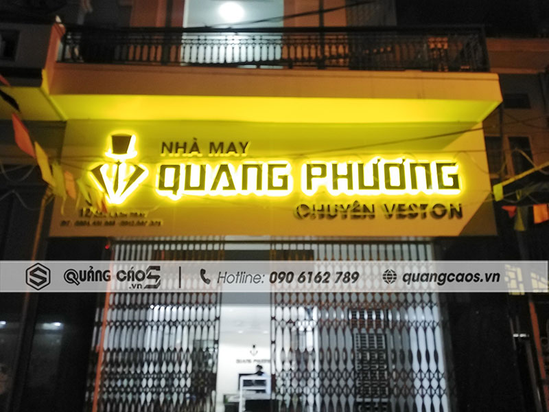 Thi công bảng hiệu Nhà May Quang Phương