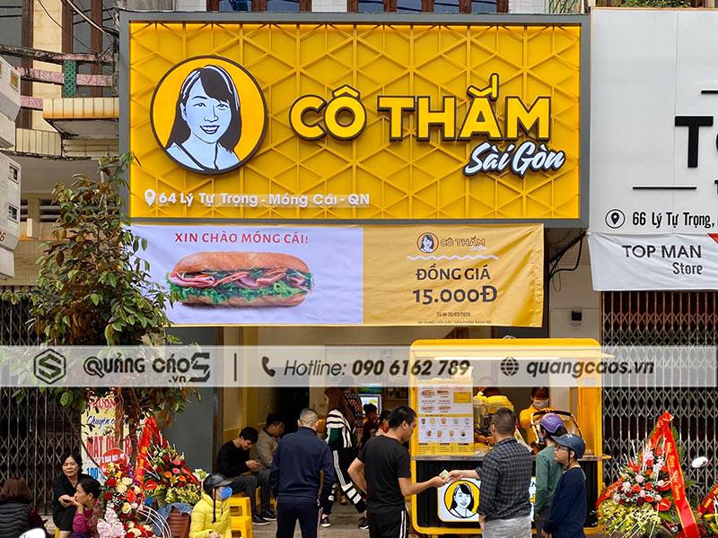 Thi công biển quảng cáo Cô Thắm Sài Gòn - Móng Cái, Quảng Ninh