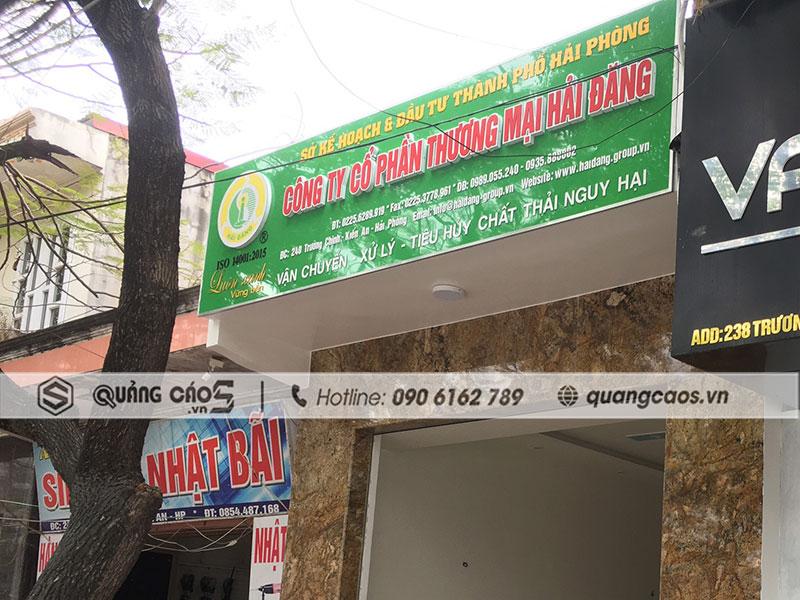 Báo giá Thi công biển quảng cáo tại Kiến An Hải Phòng