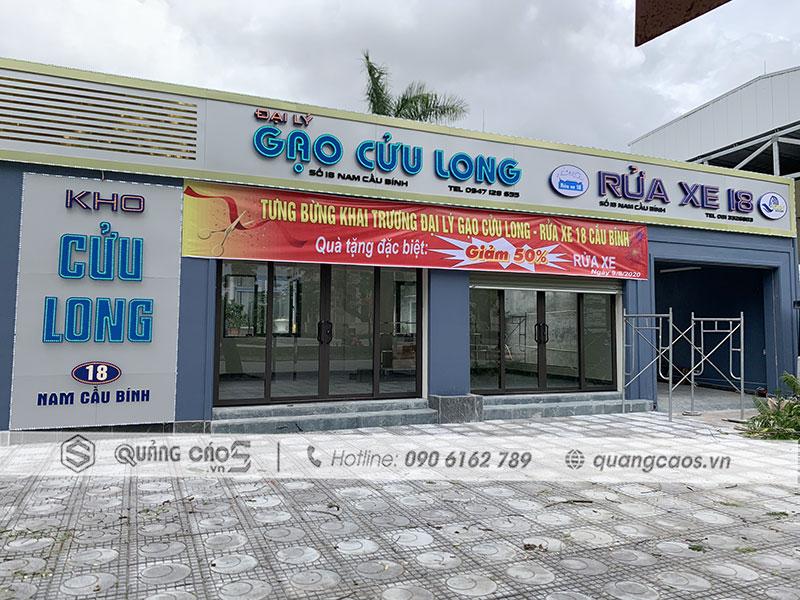 Làm biển quảng cáo Gạo Cửu Long