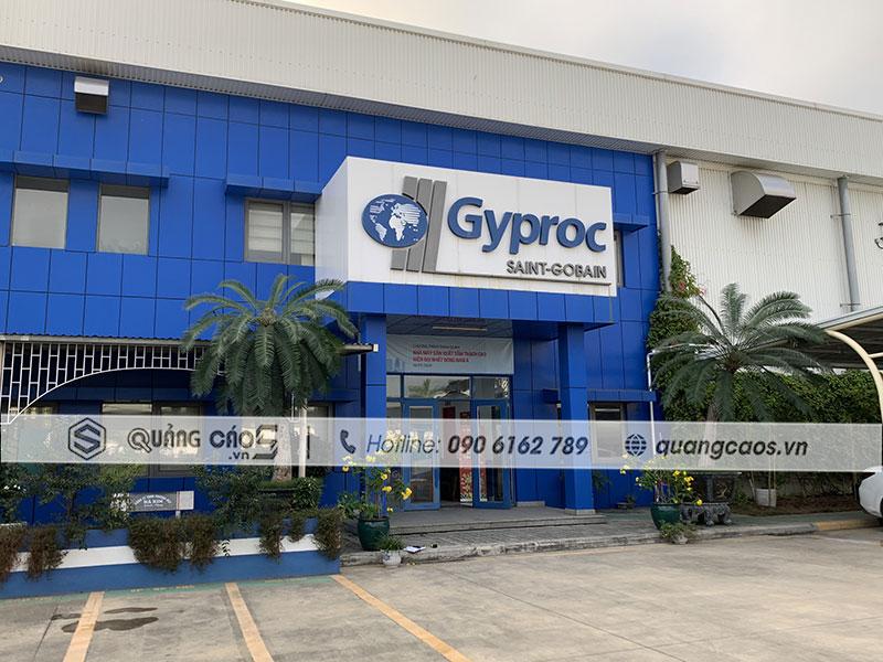 Làm biển quảng cáo công ty Gyproc tại Thủy Nguyên Hải Phòng