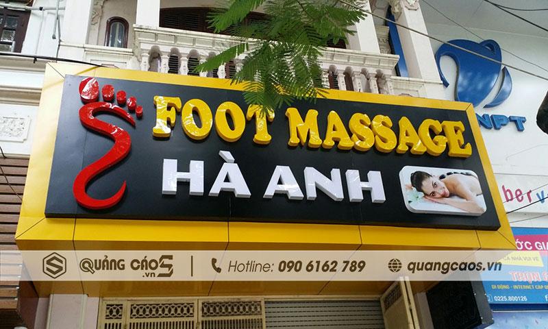 Làm biển hiệu Foot Massage Hà Anh- Văn Cao, Hải Phòng