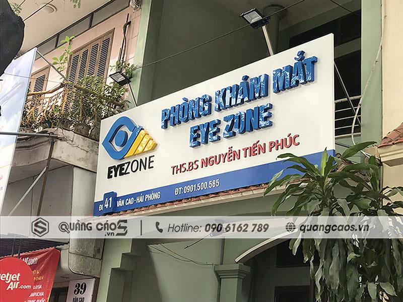 Biển quảng cáo Phòng Khám Mắt EYE ZONE - 41 Văn Cao, Hải Phòng