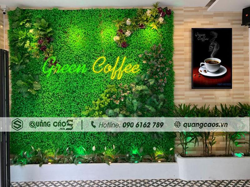 Vách checkin Green Coffee