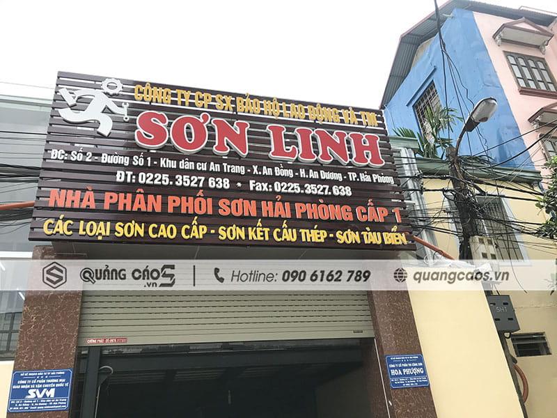 Thi công biển quảng cáo công ty Sơn Linh