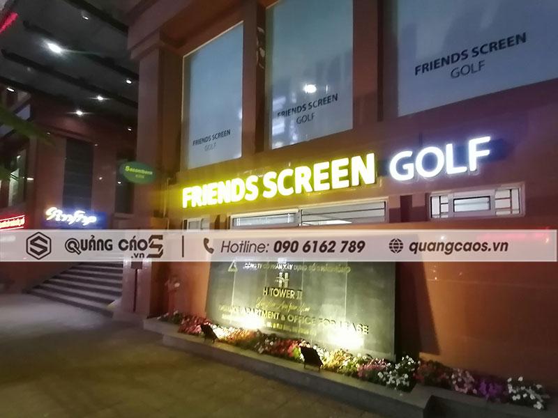 Biển quảng cáo chữ nổi có đèn FRIENDS SCREEN GOLF - Văn cao, Hải Phòng