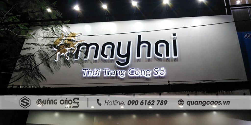 Biển hiệu quảng cáo - Công ty May Hai - Lạch Tray, Hải Phòng