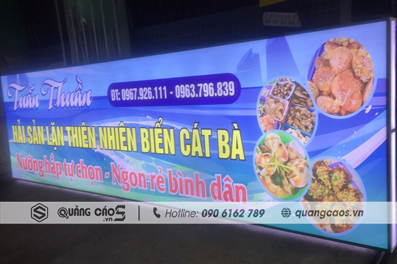 Làm biển quảng cáo hộp đèn Hải Phòng