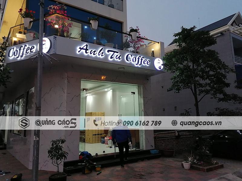 Thi công biển quảng cáo Hải Phòng - cửa hàng Coffee