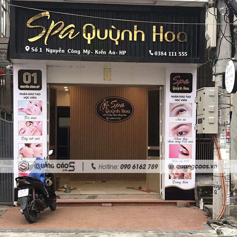 Biển quảng cáo Spa Quỳnh Hoa