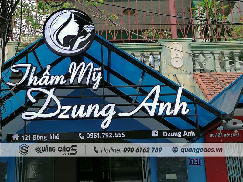 Thi công biển quảng cáo Thẩm Mỹ Dzung Anh