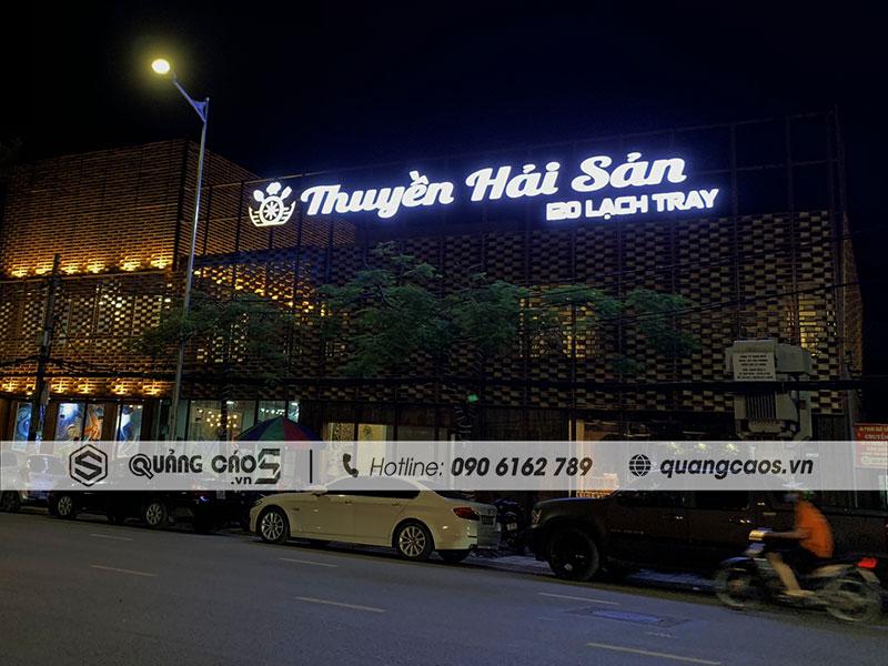 Biển quảng cáo Thuyền Hải Sản - Lạch Tray, Hải Phòng