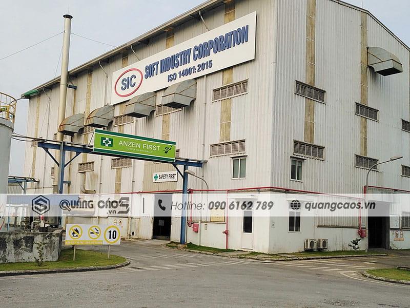 Làm biển hiệu trong công ty SOFT- Đình Vũ, Hải Phòng