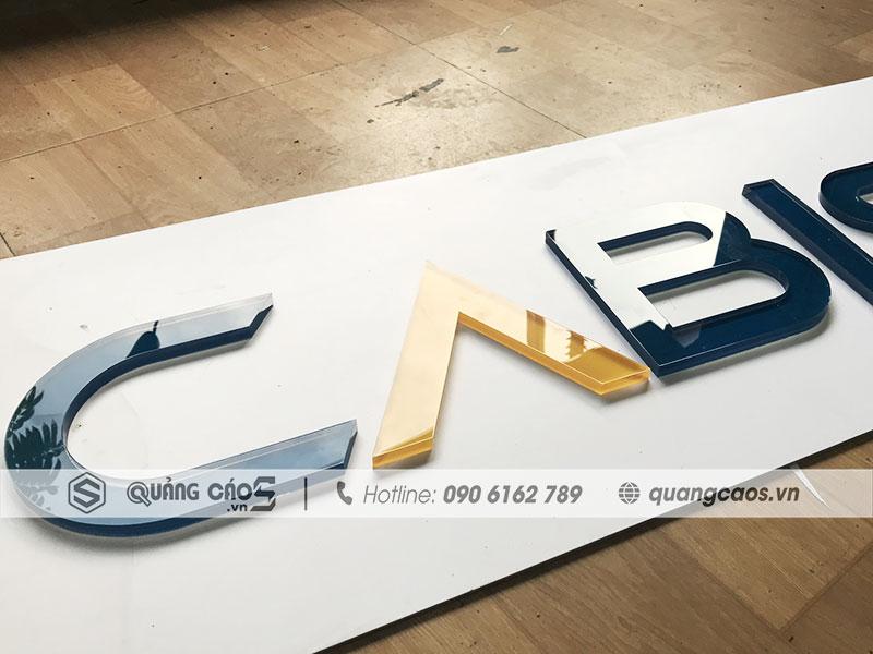Biển quảng cáo mica chữ nổi