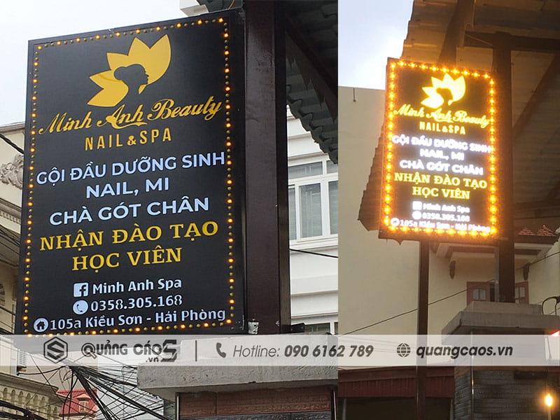 Làm biển vẫy Spa Minh Anh