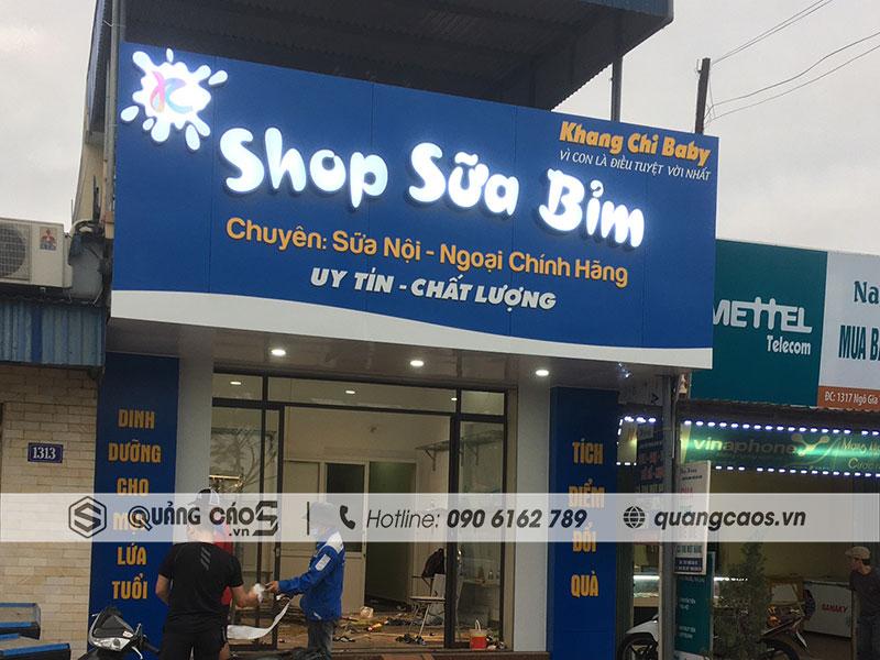 Biển quảng cáo Shop Sữa Bỉm Khang Chi
