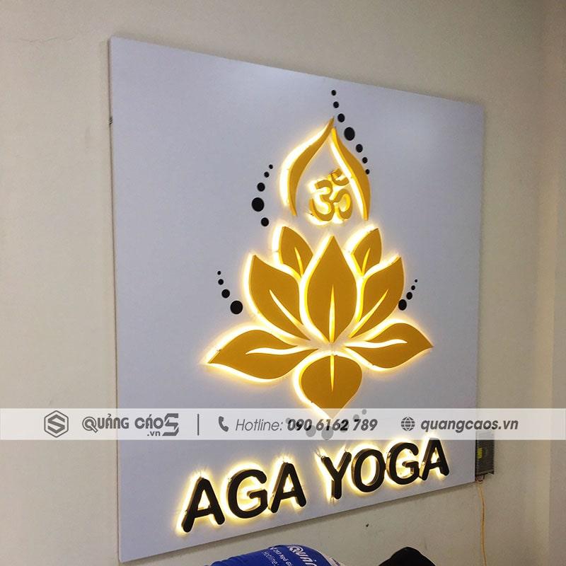 Làm vách quảng cáo trong nhà Yoga