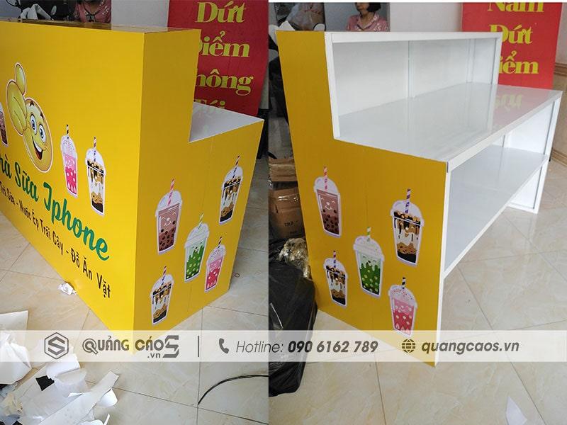 Kệ bán hàng Trà Sữa