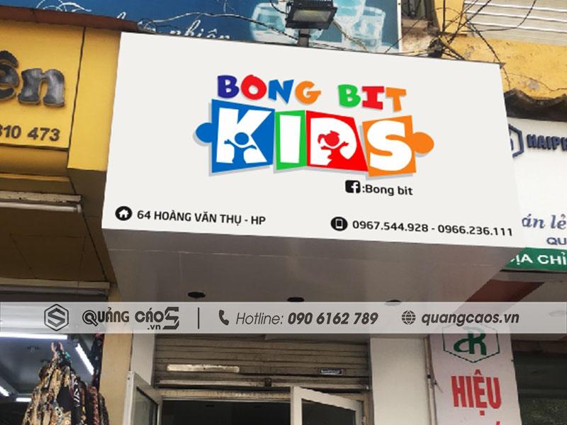 Làm biển quảng cáo Bong Bit tại Hoàng Văn Thụ Hải Phòng