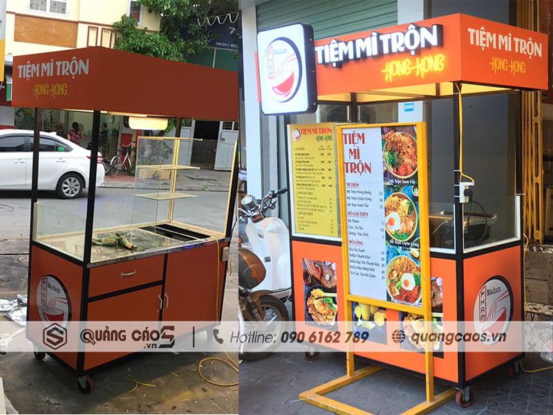 Gia công xe bán hàng tiện lợi tại Hải Phòng - Tiệm mỳ trộn