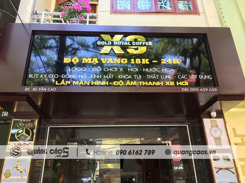 Thi công biển quảng cáo X9 tại Văn Cao Hải Phòng
