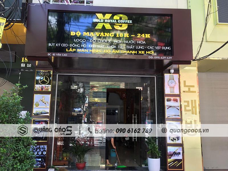 Làm biển quảng cáo X9 tại Văn Cao Hải Phòng