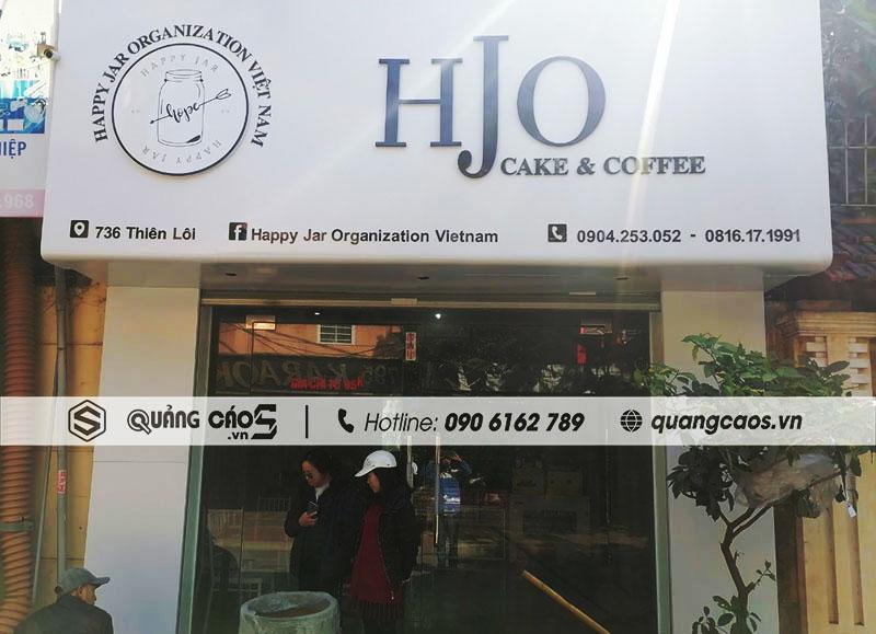 Thi công biển quảng cáo cua hàng HJO tại 736 Thiên Lôi, Hải Phòng