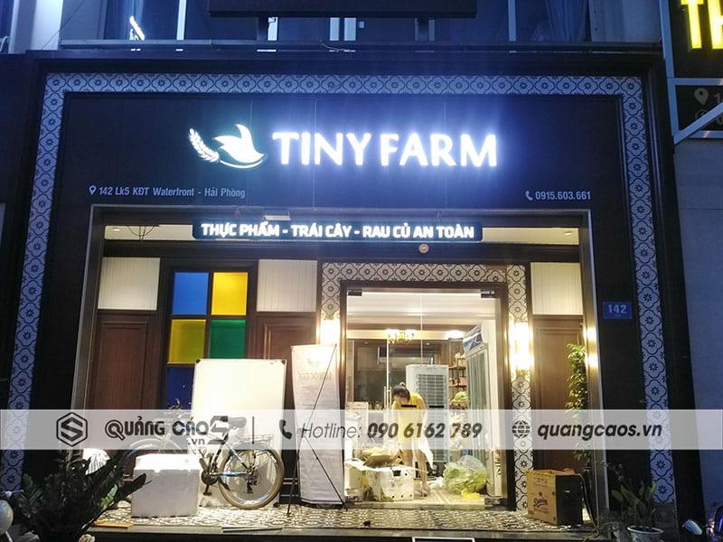 Thi công biển quảng cáo Tiny Farm