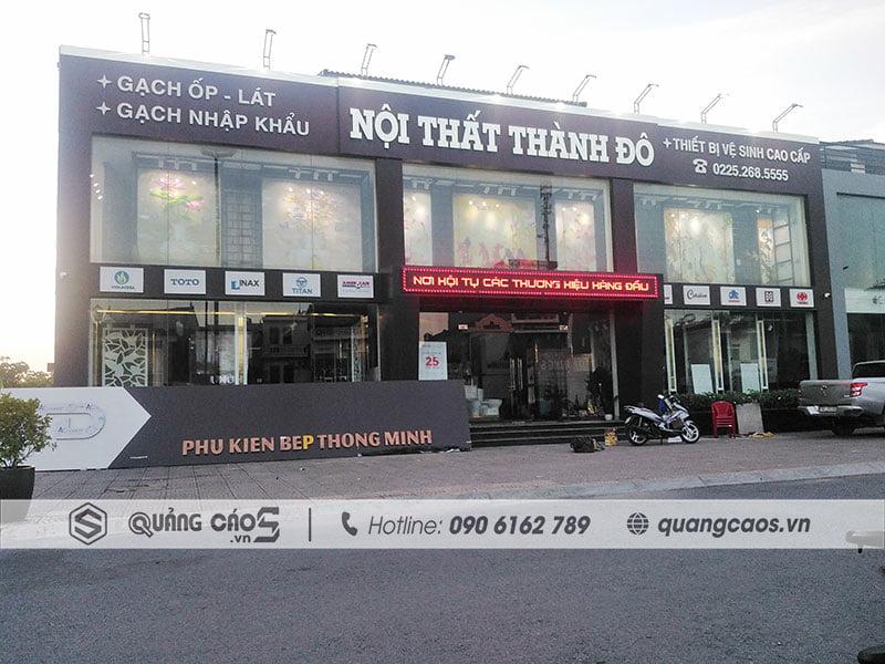 Thi công biển quảng cáo Nội Thất Thành Đô tại Thủy Nguyên Hải Phòng